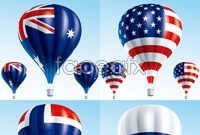 Link to6 hot air balloon vector map