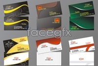 6 m-business card template vector