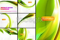 Link to6 m-green leaf background vector