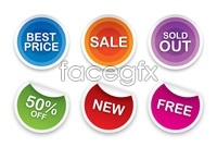 Link to6 page sticker tag vector