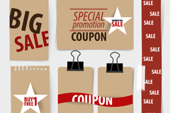 Link to6 paper promotional banner vector