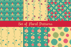 Link to6 paragraph patterned floral seamless background vector