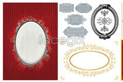 Link to6 picture frame lace vector