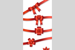 Link to6 red ribbon bow vector