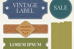 Link to6 ribbons and sale tag vector