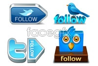 Link to6 stereo bird icon vector