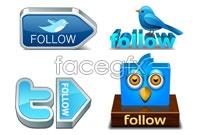 Link to6 stereo bird icon vector