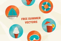 Link to6 summer holiday icon vector