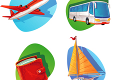 Link to6 travel element icon vector