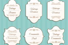 Link to6 vintage label design vector graph