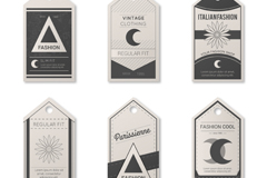 Link to6 vintage paper tag vector