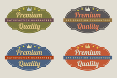 Link to6 vintage quality tag vector