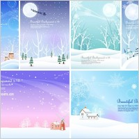 Link to6 winter snow background vector