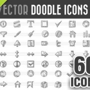 Link to60 kind doodle icons vector free