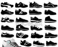 Link to60 sneaker silhouette vector design
