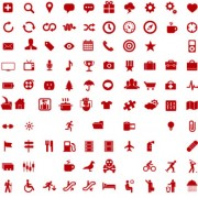 Link to600 kind commonly red icons vector free