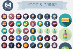 Link to64 food and beverage icon vector