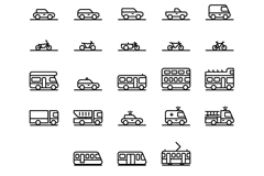 64 transport element icon vector
