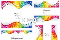 Link to7 color arc card background vector