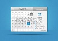 Link to7 free calendar design interface psd