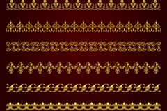 Link to7 gold lace design vector