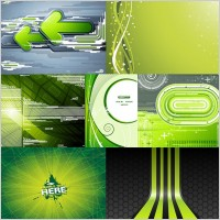 Link to7 green background vector