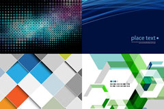 Link to7 modern creative arts background vector