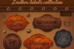 Link to7 retro premium leather tag vector