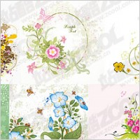 Link to7, various flowers vector material