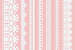 Link to7 white lace design vector