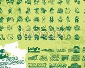Link to70 super mario cartoon vector