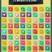 Link to72 kind website vector icons