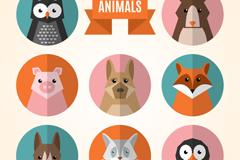 Link to8 animal avatar design vector