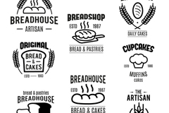 Link to8 bakery label vector
