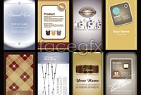Link to8 beautiful cards, vector