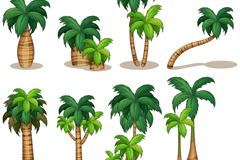 Link to8 beautiful coconut palm vector