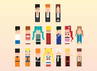 Link to8-bit characters vector free