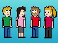 8-bit friends vector free