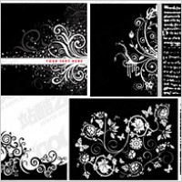 Link to8, black and white pattern vector material