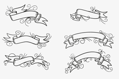 Link to8 black-painted ribbon design vector