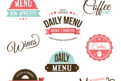 Link to8 color beverage labels vector diagrams