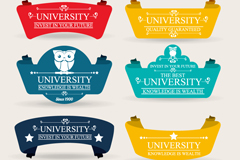 Link to8 color campus label vector diagrams