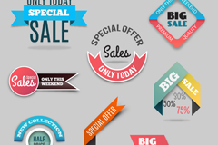Link to8 color promotional tag vector