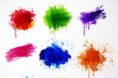 Link to8-colour ink graffiti vector
