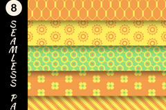 Link to8 colour seamless vector background