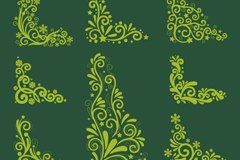 Link to8 corners christmas decoration patterns vector