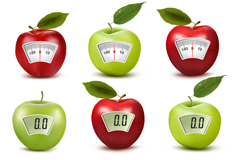 8 creative apple electronic scale vector