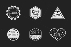 Link to8 creative family tag vector