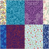 Link to8 cute little pattern background vector