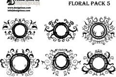 Link to8 decorative ring vector